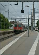 The SBB Re 4/4 II 11114 with an IR Brig - Geneva in Allaman.