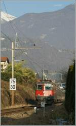 SBB Re 4/4 II 11146 with an IR near Locarno.