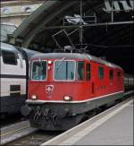 The Re 4/4 II 11132 photographed in St Gallen main station on September 12th, 2012.
