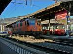 The SBB Re 4/4 11320 in Vevey. 