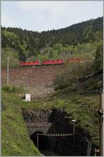 Thesame SBB Re 4/4 with a Cargo Train between Faido and Rodi Fieso.