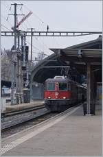 The SBB RE 4/4 II 11132 in St Gallen.