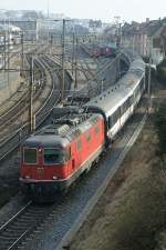 Re 4/4 II with a IR to Geneva in Lausanne. 