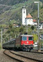 Re 4/4 II with IR in Flüelen.