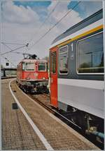 The SBB Re 4/4 II 11197 in Lindau.