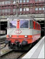 Re 4/4 II 11108 in Swiss Express colours pictured at Basel SBB station on August 4th, 2008.