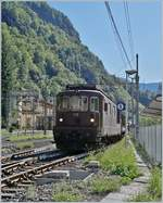 The BLS Re 4/4 178  Schwarzenburg  in Iselle. 