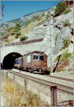 The BLS Re 4/4 175 on the way to Brig by Hohtenn.