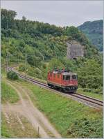 The SBB Re 430 357-4 on the old Hauenstein line between Läuffelfingen and Buckten.