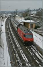SBB Re 460 116-7 with an IC to St-Gallen by Lonay-Preverenges.