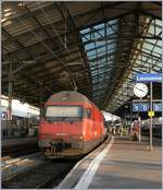 The SBB Re 460 042-5 in Lausanne.
