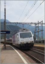 The BLS Re 465 017-2 in Melide.