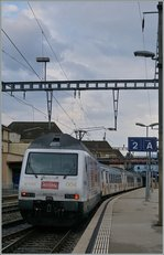 The BLS  Kambly  Re 465 004 in Neuchatel.