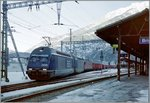BLS RE 465 AND a SBB Re 6/6 with a Cargo train in Brig. 