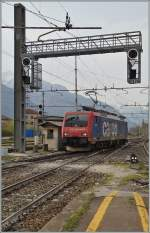 The SBB Re 474 009 in Domodossola. 