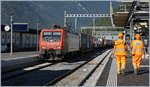 SBB Cargo Re 474 015 with a Crago train to Luino in Bellinzona. 07.09.2016
