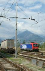 SBB Cargo Re 484 006 in Domodossola  (27.07.2009)