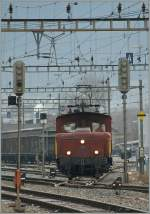 A SBB Te 329 in Sion. 