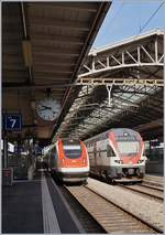 A SBB ICN and the SBB RABe 511 020 in Lausanne.