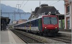 A NPZ RABe 560 on the way to Geneve by his stop in Montreux.