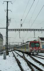 Wintertime in Lausanne: NPZ to Vallorbe.