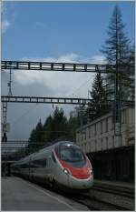 ETR 610 from Milano to Basel in Goppenstein.