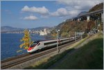 A SBB ETR 610 (RABe 503) from Milan to Geneva by The Castle of Chillon.