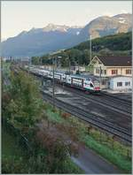 The SBB RABe 511 101 from Annemasse to St-Maurice in St-Triphon. 