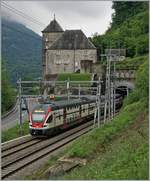 A SBB RABe 511 on the way from Annemasse to St Maurice is shortly arriving at his destination St Maurice     14.05.2020
