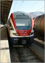 My first pictures of the new SBB RABe 511 002 in Sion.