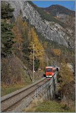 The TMR Region Alps RABe 525 041  NINA  on the way from Sembrancher to Orsières near Sembrancher. 