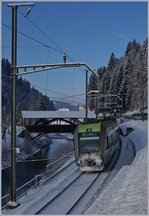The BLS RABe 535 121 on the way to Bern by Trubschachen.