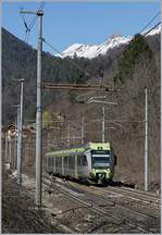 A Lötschberger on the way from Bern to Domodossola by Varzo.