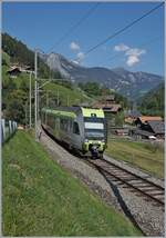 The BLS RABe 535 106 on the way to Bern by Garstatt.