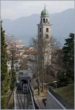 The Lugano TPL Funicular from the Station to the Old-City.