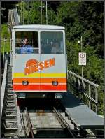 A Niesen Bahn funicular unit pictured on July 29th, 2008.