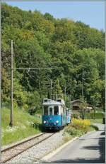 A Blonay-Chamby electric train near Blonay.