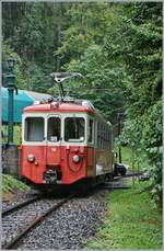 The CEV BDeh 2/4 74 by the Blonay-Chamby in Chaulin.