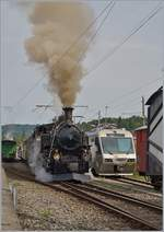 Blonay Chamby Mega Steam Festaval (MSF): The BFD HG 3/4 N° 3 in Blonay.