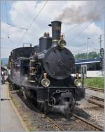 Blonay Chamby Mega Steam Festival: The SBB G 3/4 208 (by the Ballenberg Dampfbahn) on the Blonay - Chamby Railway.