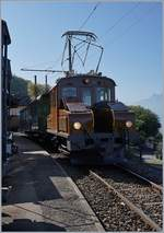 50 years Blonay -Chamby Railway - Mega Bernina Festival (MBF): The Ge 2/2 161 Asnin  in Chamby.