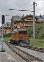50 years Blonay -Chamby Railway - Mega Bernina Festival (MBF) wiht his Special Day Bündnertag im Saaneland: The RhB Ge 4/4 182 in Gstaad.14.09.2018