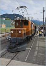 50 years Blonay-Chamby Railway - Mega Bernina Festival (MBF): The RhB BB Ge 4/4 182 in Blonay.