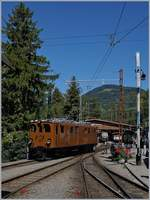 50 years Blonay -Chamby Railway - Mega Bernina Festival (MBF): The B-C Bernina Bahn Ge 4/4 81 in Chaulin.