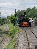 A picture token from the incoming train in Chaulin: The Blonay Chamby G 2x 2/2 105.