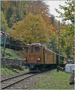 LA DER 2020 by the Blonay-Chamby: The Blonay-Chamby Bernina Bahn Ge 4/4 81 on the way toe Blonay by Chaulin. 