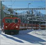 MGB HGe 4/4 with an local train to Disentis in Andermatt.