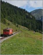 The MGB Gm 4/4 on the way to Oberwald.