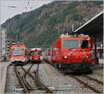 MGB train and Glacier-Express in Brig.