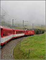 A MGB local train is running near Nätschen on August 7th, 2007.